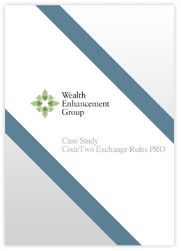 CodeTwo Exchange Rules Pro Case Study by Wealth Enhancement Group