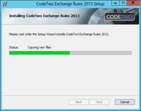 Exchange rules 5 minutes installation