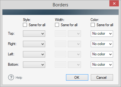 editor cell borders