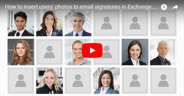 User photos in Active Directory and Office 365 - video.