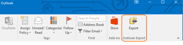 Outlook Export in Outlook